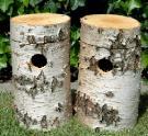 2 Nisthöhlen für Streifenhörnchen